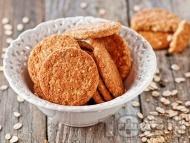 Рецепта Вкусни домашни бисквитки с овесени ядки, сусамов тахан, мед, орехи и стафиди